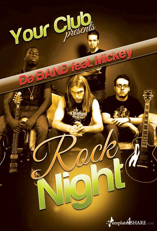 Rock Concert Party Flyer (PSD)