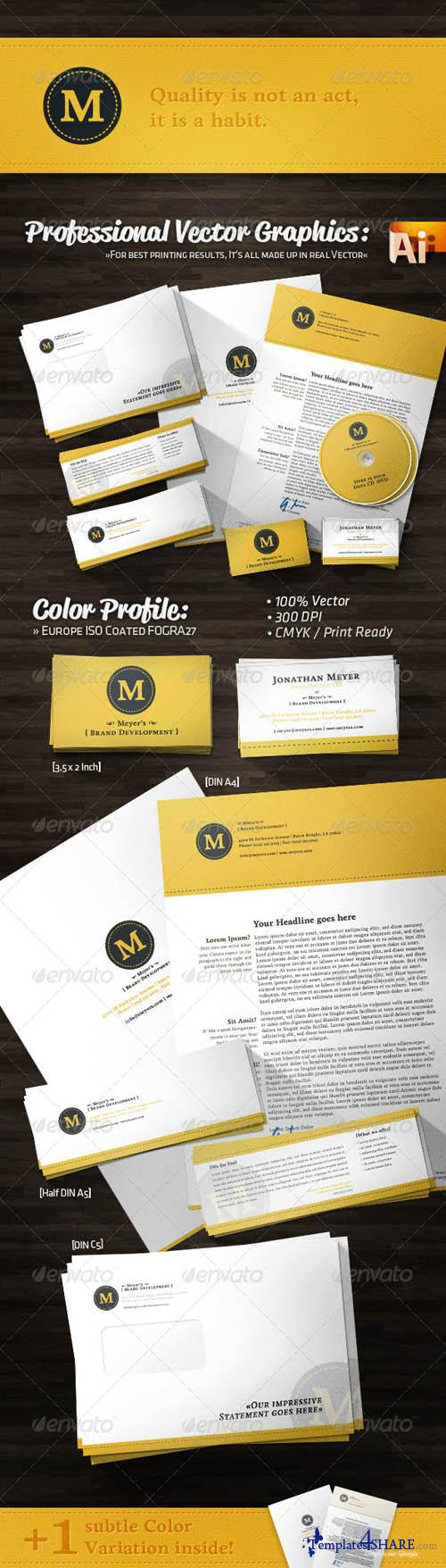 GraphicRiver Creative Agency Corporate Identity Retro Style - REUPLOAD