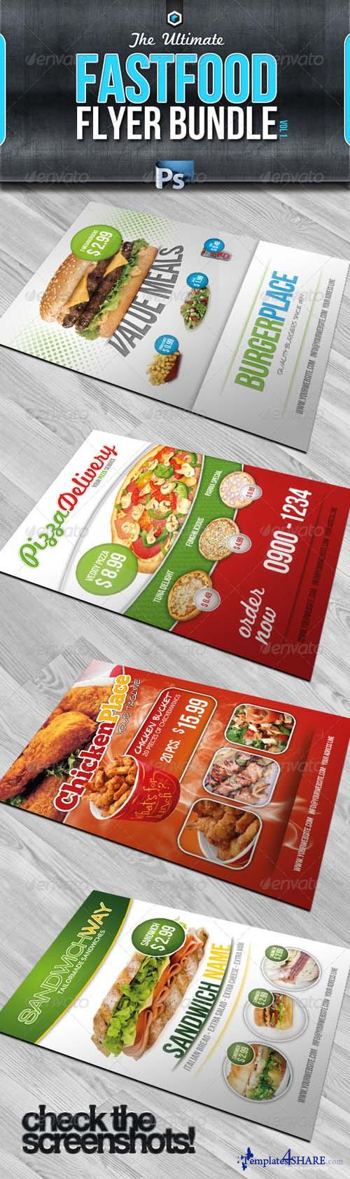 GraphicRiver RW Ultimate Fastfood Flyer Bundle Vol.1