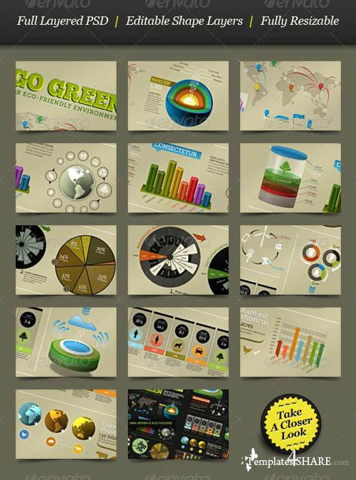 GraphicRiver Go Green - Infographic Elements - info template