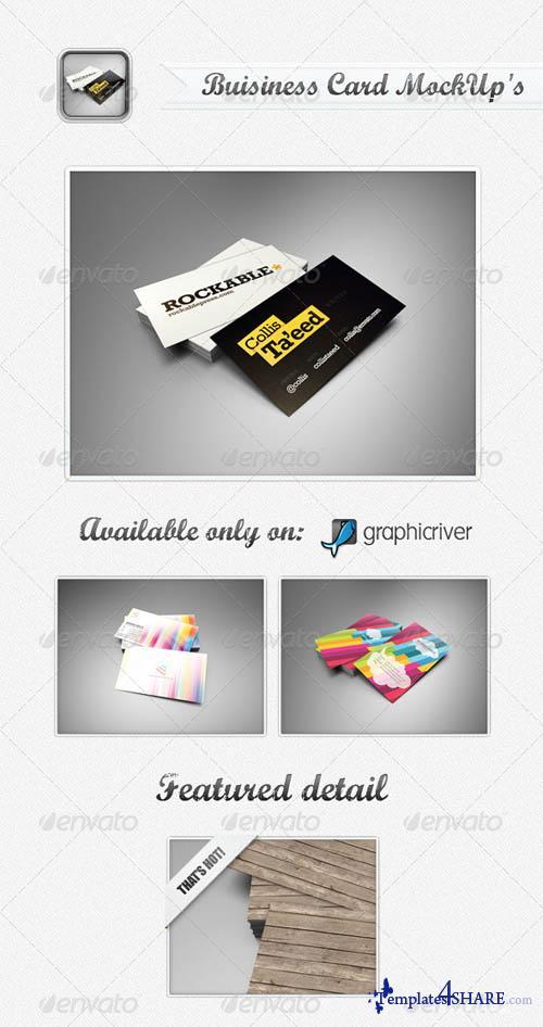 GraphicRiver Business Card MockUp's - REUPLOAD