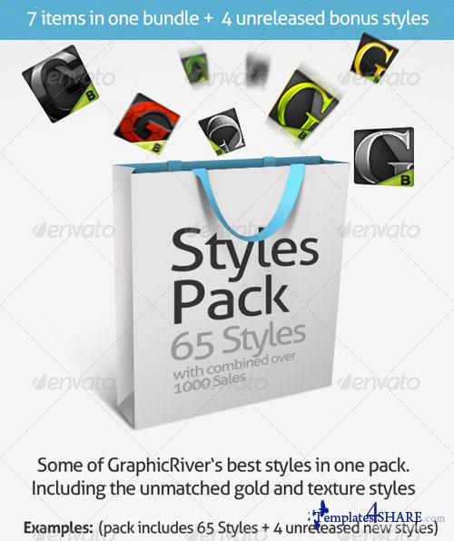 GraphicRiver Premium Text Styles Bundle - 65 Photoshop Styles - REUPLOAD