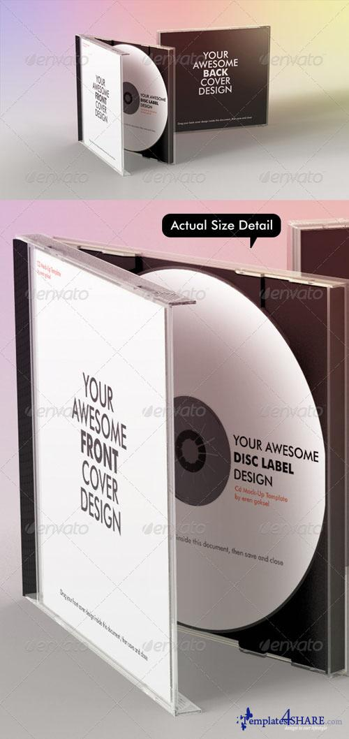 GraphicRiver Realistic CD Mock-Up Template