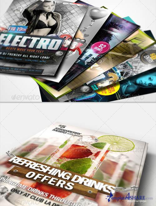 GraphicRiver Flyer Poster Mockups Bundle