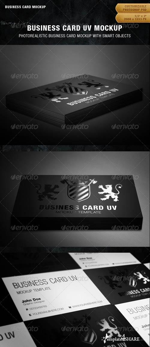 GraphicRiver Business Card UV Mockup