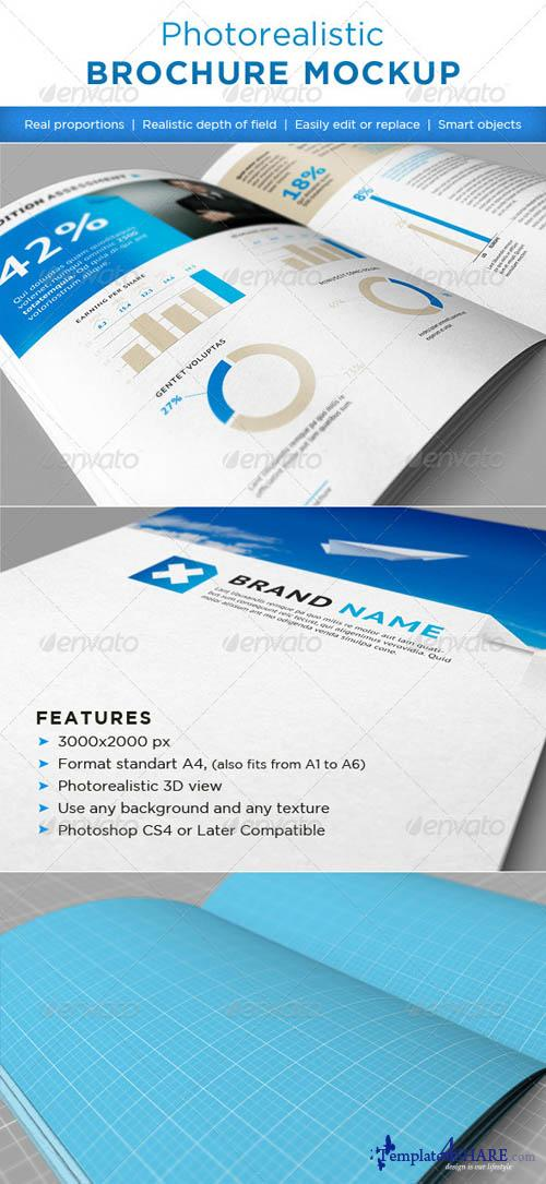 GraphicRiver Realistic brochures mock-ups