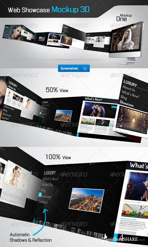 GraphicRiver Web Showcase Mockup