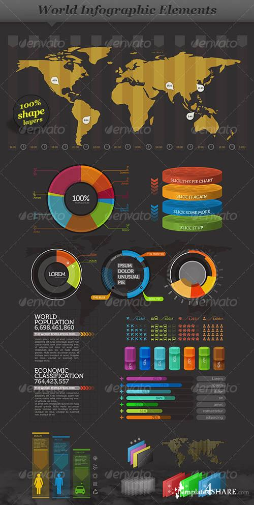 GraphicRiver World - Infographic Elements - Visual Information