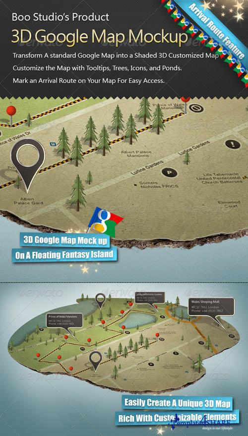 GraphicRiver 3D Google Map Mock up