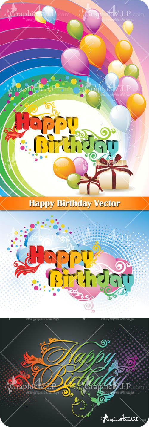 Happy Birthday - Vector Graphics