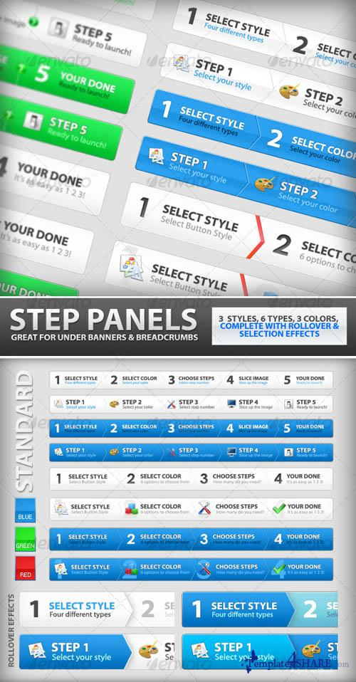 GraphicRiver Step Process Panels Mega Set - Over 100 Variations - REUPLOAD
