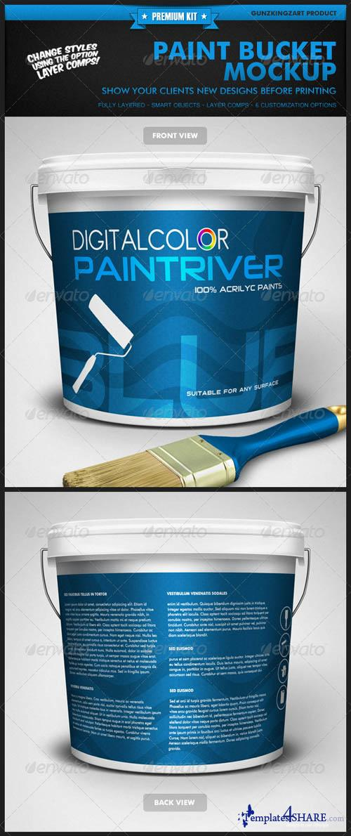 GraphicRiver Paint Bucket Mockup - Premium Kit