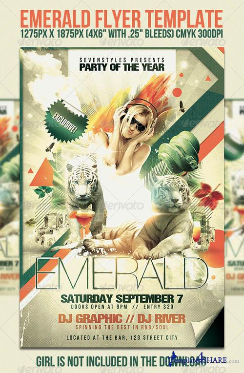GraphicRiver Emerald Flyer Template