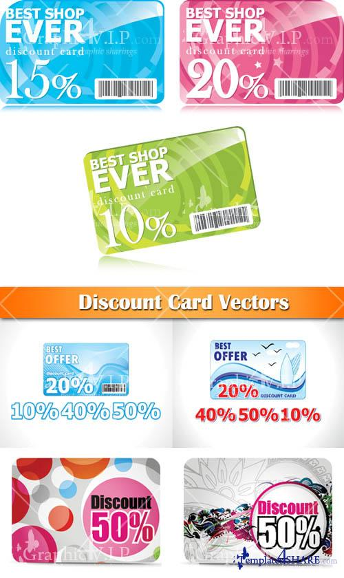 Discount Cards - Vector Graphics