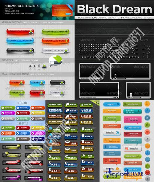 GraphicRiver Professional Web Elements Pack - REUPLOAD