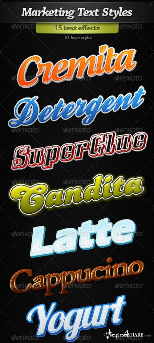 GraphicRiver Marketinng Text Styles