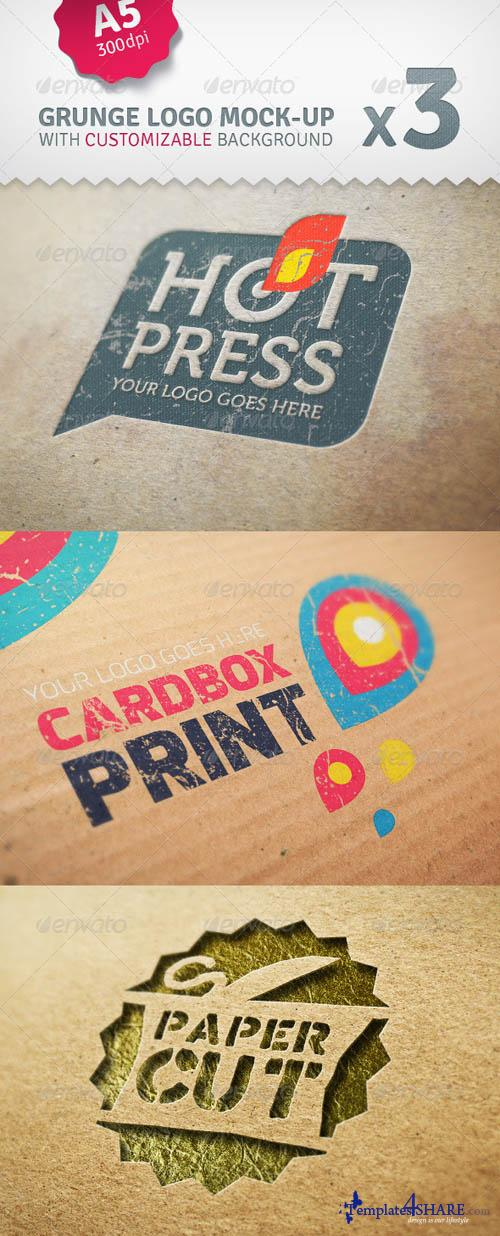GraphicRiver Cardboard Logo Mockup Pack With Custom Backgrounds