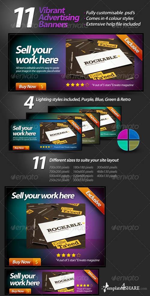 GraphicRiver Vibrant Web Banners