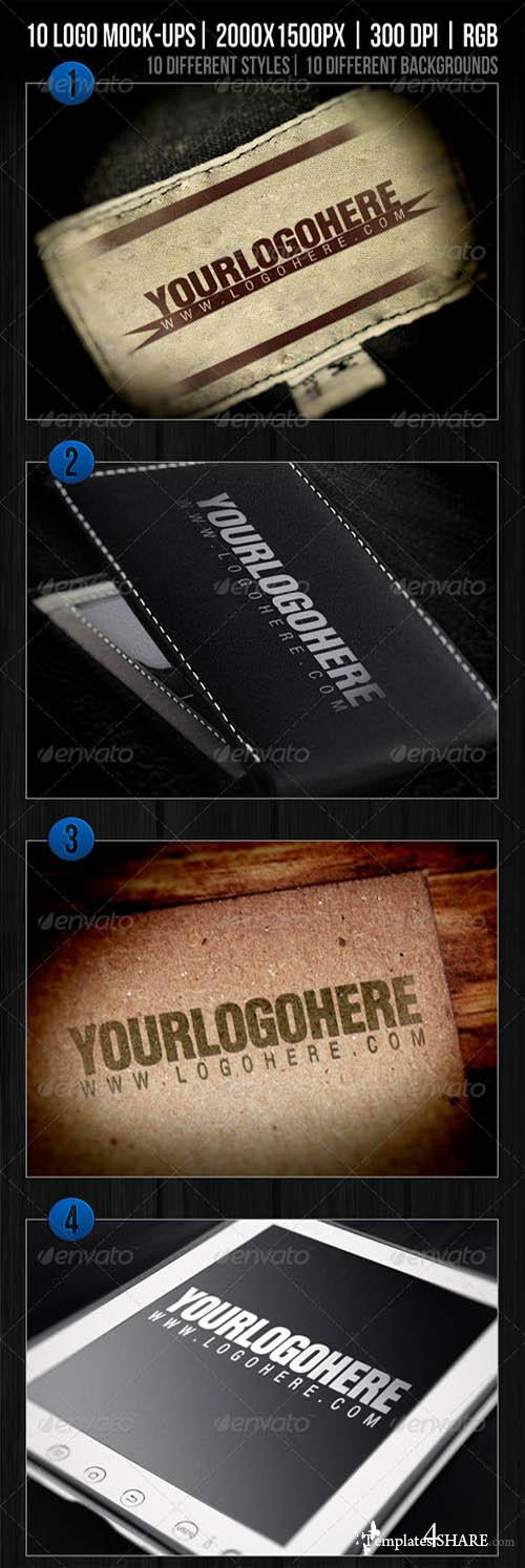 GraphicRiver 10 Logo Mockups Templates Vol.1 - REUPLOAD