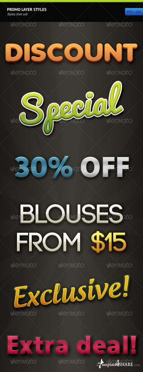 GraphicRiver Promo Layer Styles
