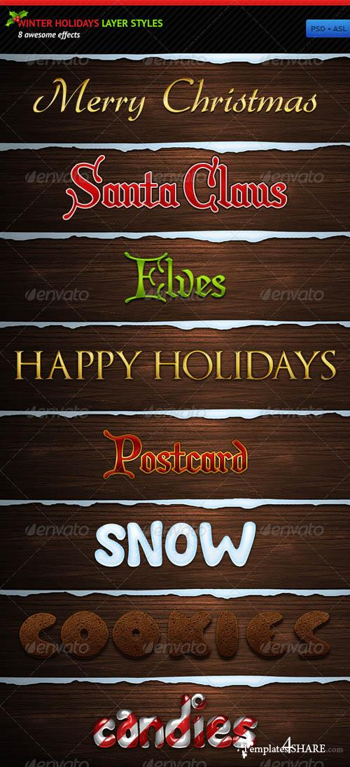 GraphicRiver Winter Holidays Layer Styles