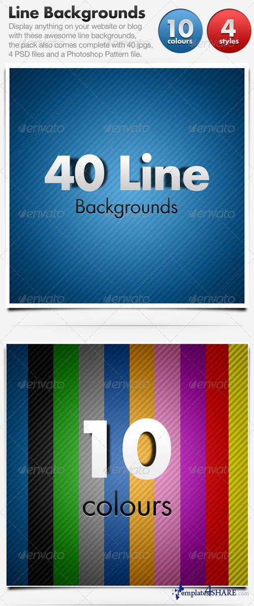 GraphicRiver Line Backgrounds x 40 Horizontal & Diagonal