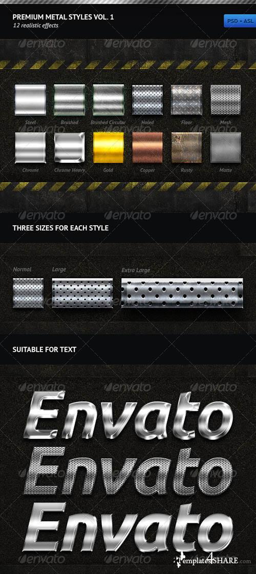 GraphicRiver Premium Metal Styles Vol. 1