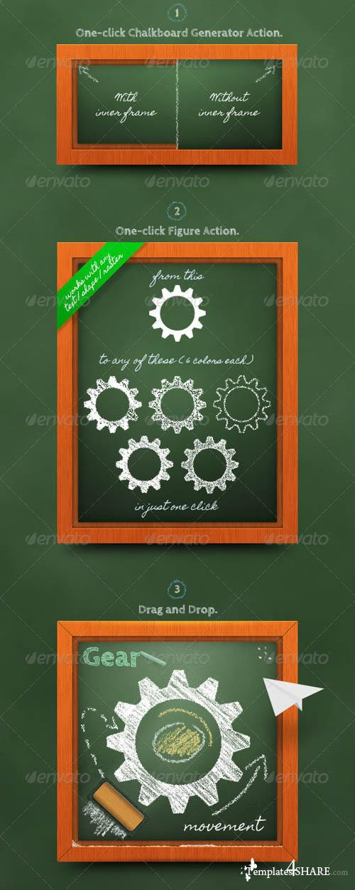 GraphicRiver Chalkboard Generator: Action + Layer Styles