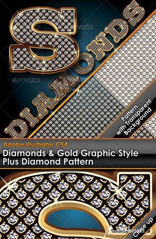 GraphicRiver Diamonds & Gold Graphic Style Plus Diamond Pattern
