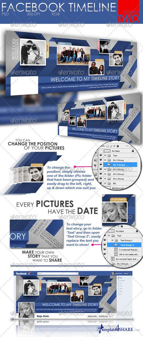 GraphicRiver Facebook Timeline Cover Two