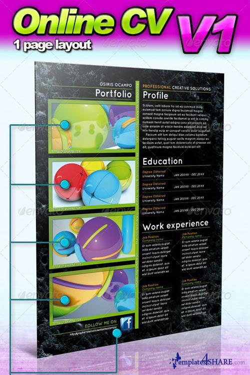 GraphicRiver Online CV - V1