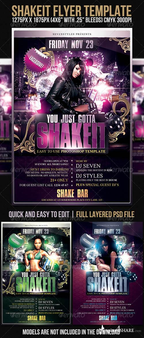 Graphicriver Shakeit Flyer Template - REUPLOAD