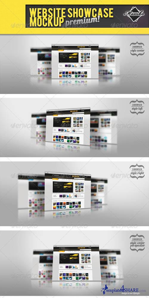 GraphicRiver Website Showcase Mockup