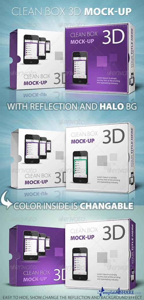 GraphicRiver Clean Box 3D Mock-up