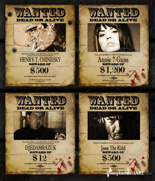 "GraphicRiver Old ""Wanted"" Poster - Editable"