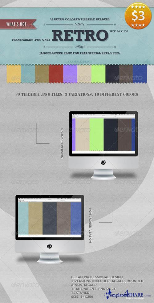 GraphicRiver 10 Tileable Retro Headers