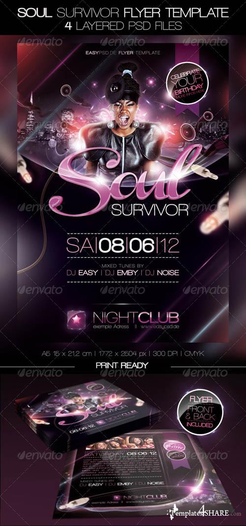 GraphicRiver Soul Survivor Flyer Template