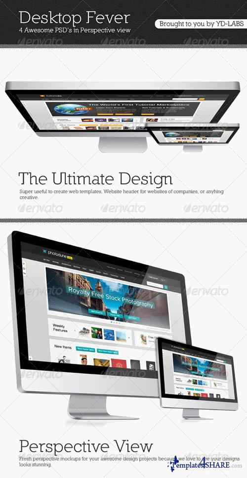 GraphicRiver Desktop Fever Mockup Pack