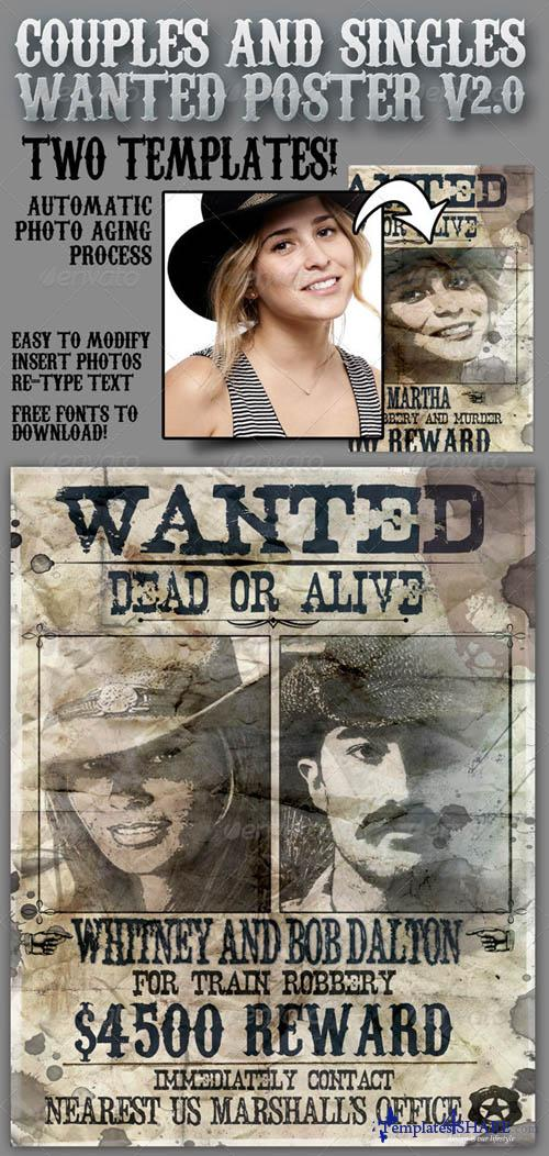 GraphicRiver Wanted Poster 8.5x11 for Singles and Couples V2.0