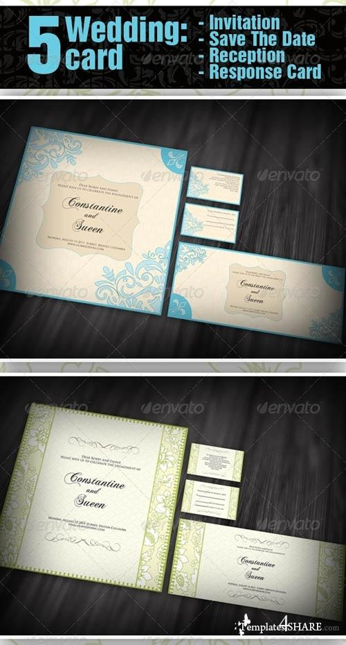 GraphicRiver 5 items Wedding - Invitation + Save The Date