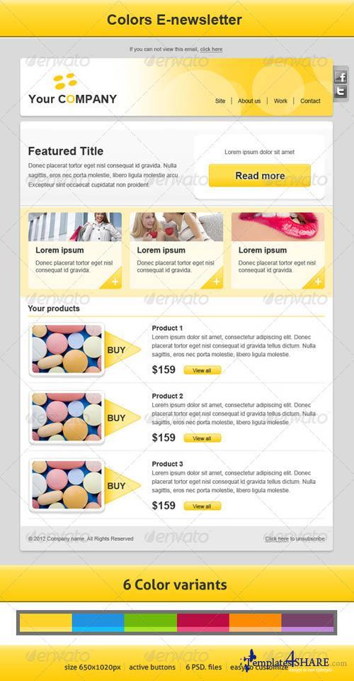 GraphicRiver Colors E-newsletter