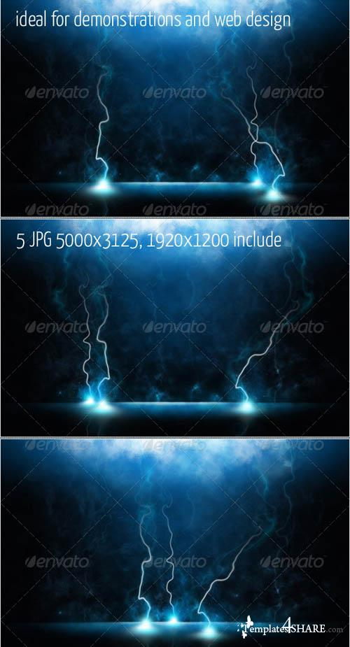 GraphicRiver Magic Lightning Backgrounds