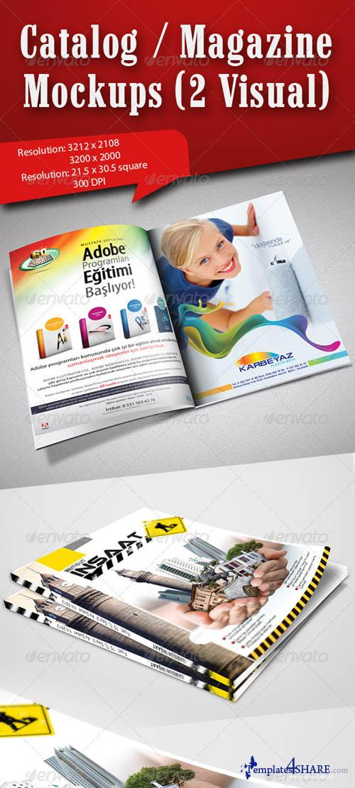 GraphicRiver Catalog / Magazine Mockups (2 Visual)