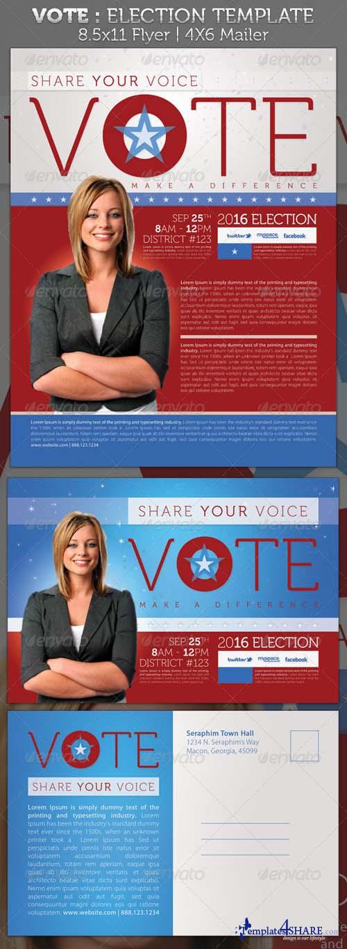 GraphicRiver Vote - Election Full Page and Mailer Template