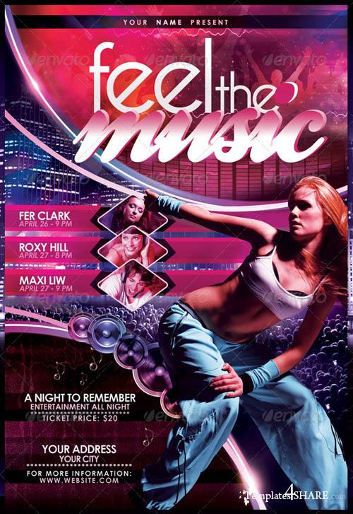 GraphicRiver Feel The Music Flyer Template