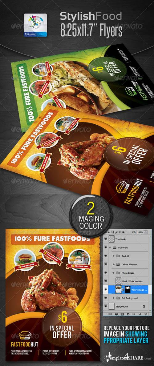 GraphicRiver Stylish Foods Flyers