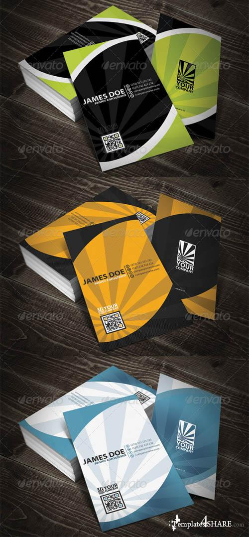 GraphicRiver Modern Rounded Quick Respose Business Card