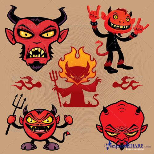 GraphicRiver Cartoon Devil Collection