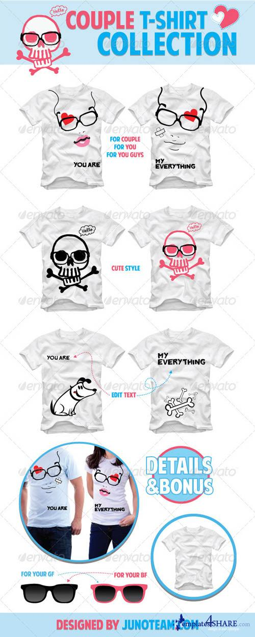 GraphicRiver Couple T-Shirt Collection