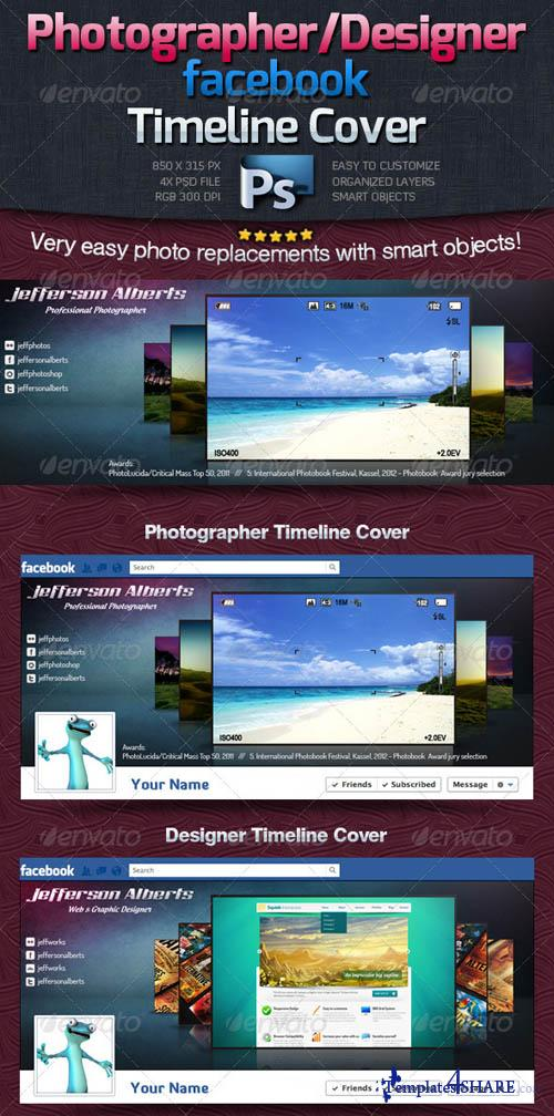 GraphicRiver Photographer / Designer Facebook Timeline Cover